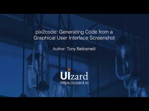 pix2code: Generating Code from a Graphical User Interface Screenshot