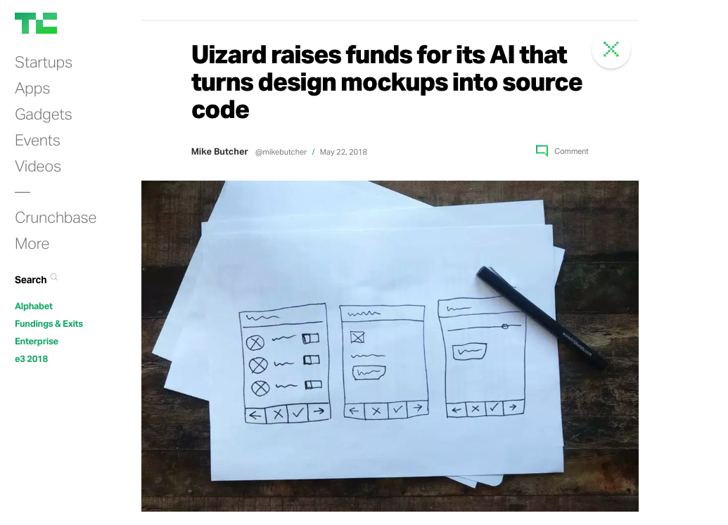 Techcrunch-uizard-investment