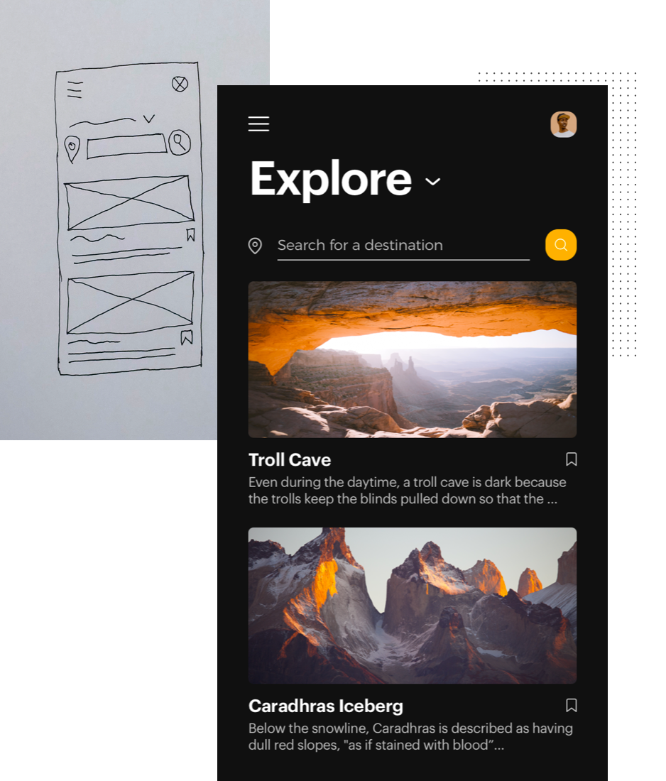 Transform rough wireframe sketches to digital screens with Uizard