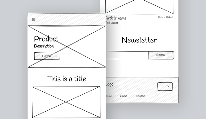 Mobile wireframe example project image